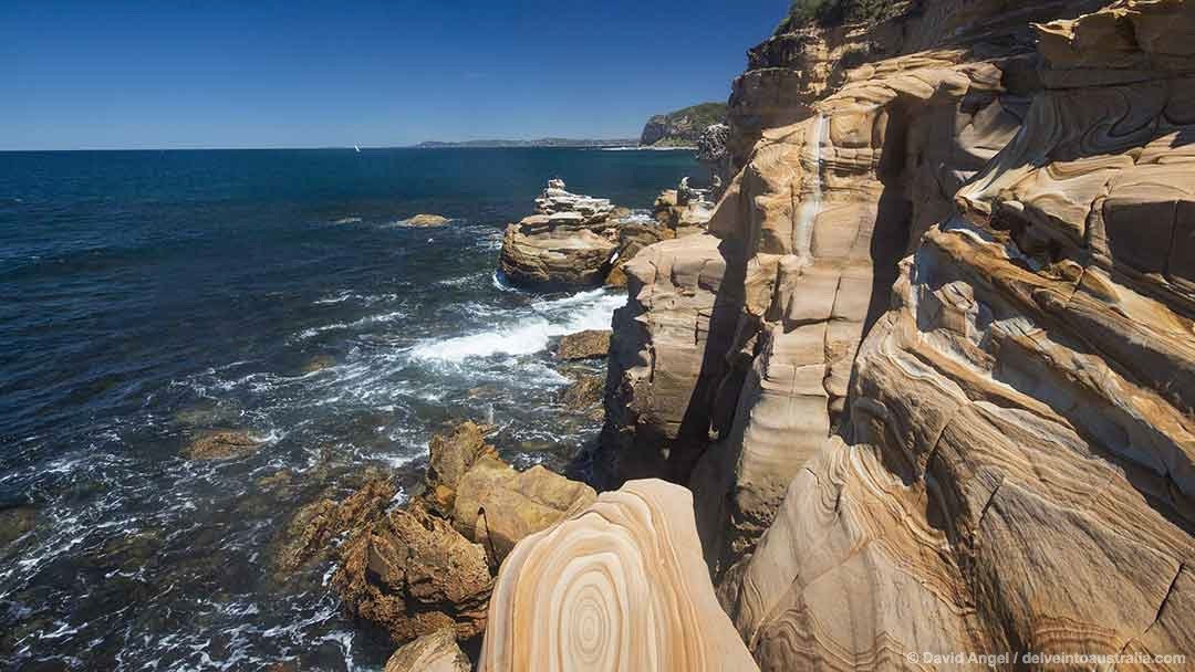 Image of rock formations near Maitland Bay Bouddi National Park NSW Australia