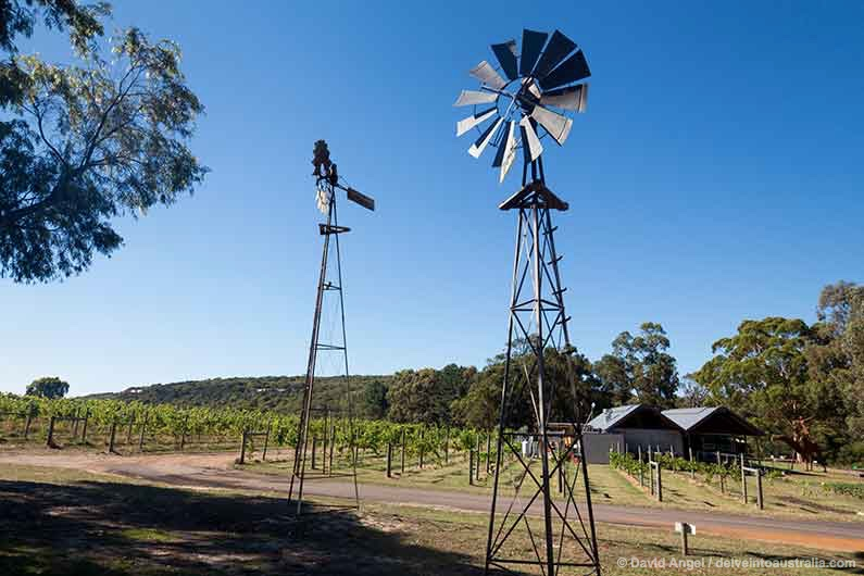 Image of winery with windmills, Margaret River