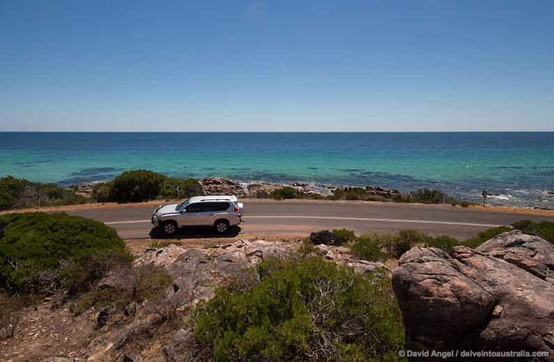 Image of coastal road near Dunsborough, Western Australia