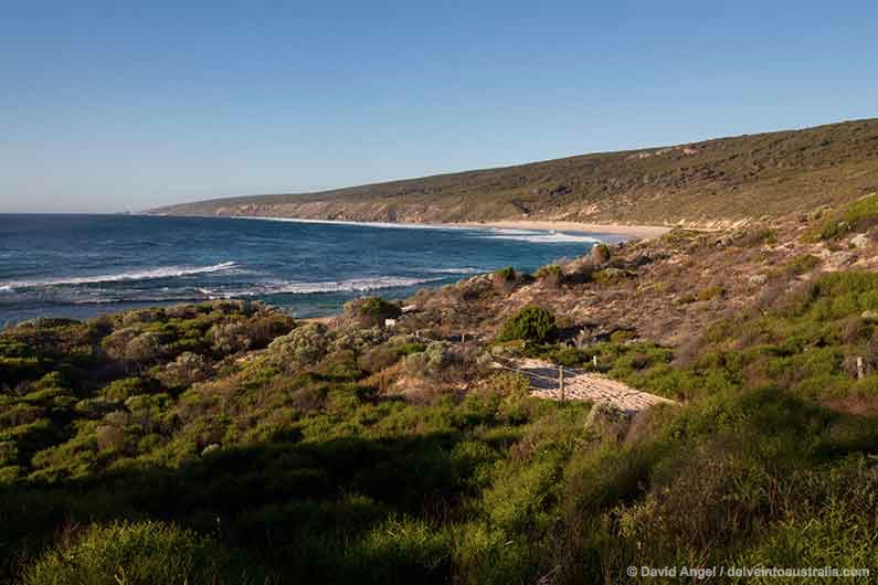Image of sandy path to Yallingup beach, Western Australia