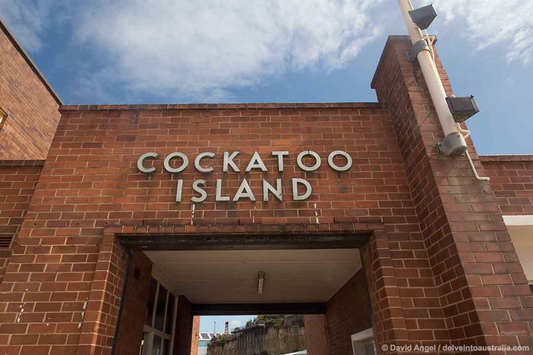 Image of Cockatoo Island sign, Sydney