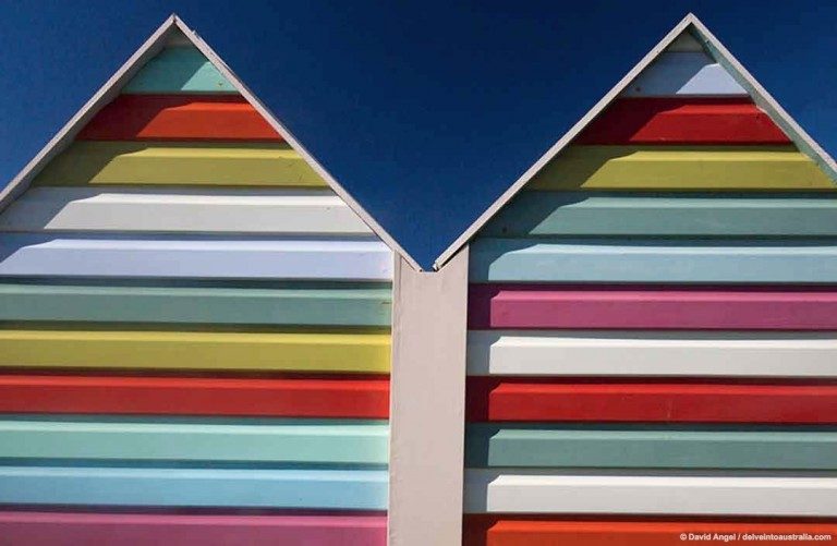 Image of Fremantle beach huts