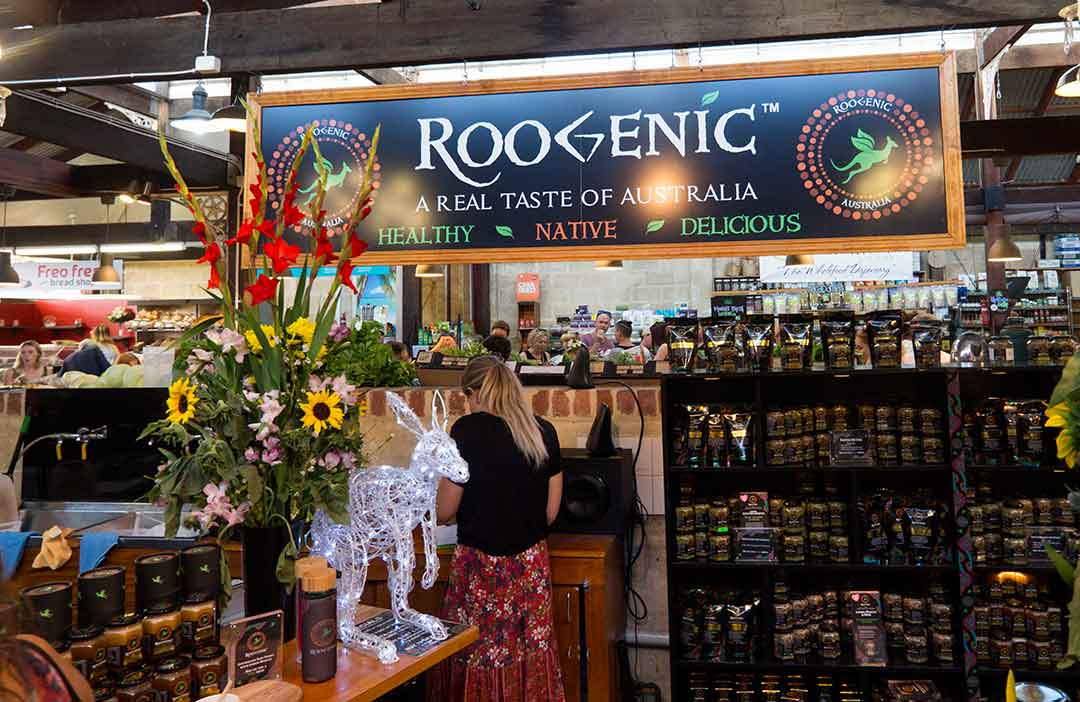Image of health food stall in Fremantle Markets