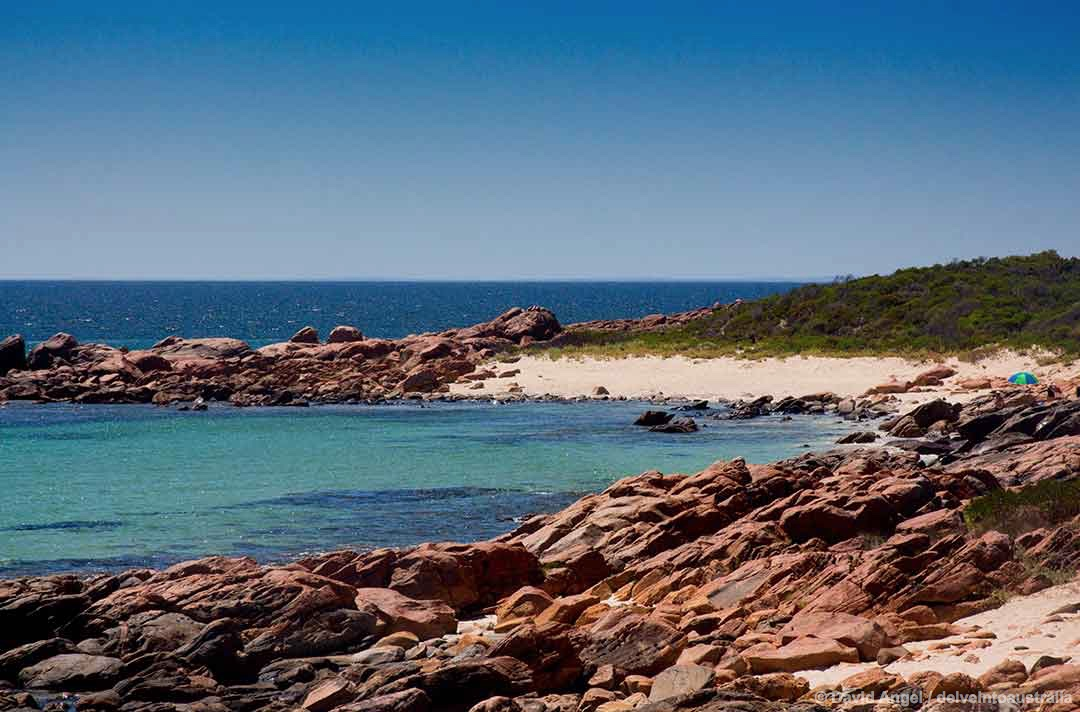 Image of one of the two beaches at Point Picquet, near Dunsborough