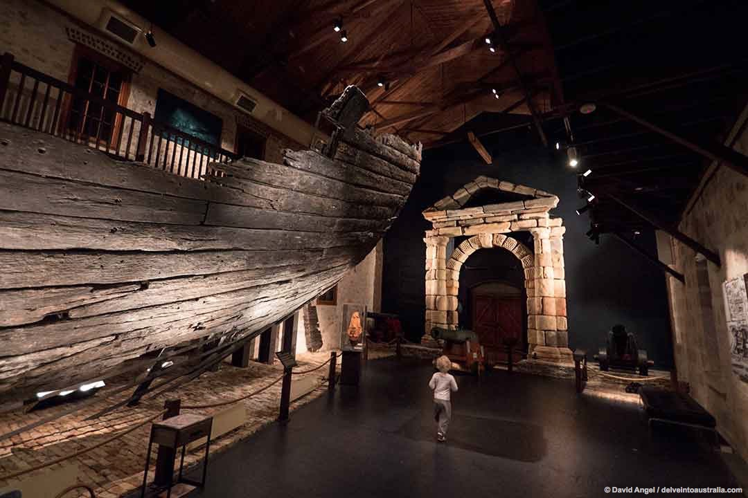Image of the Batavia Gallery in the Fremantle Shipwreck Museum