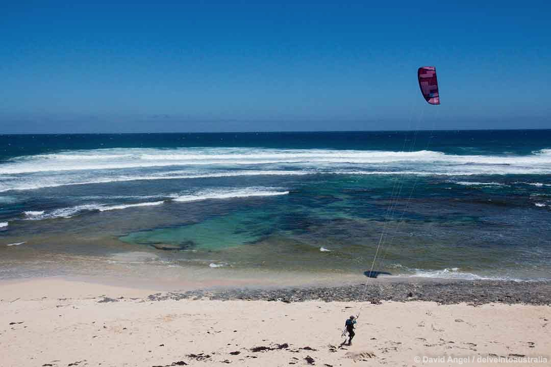 Image of KIte surfer at Surfers Point, Prevelly, Western Australia