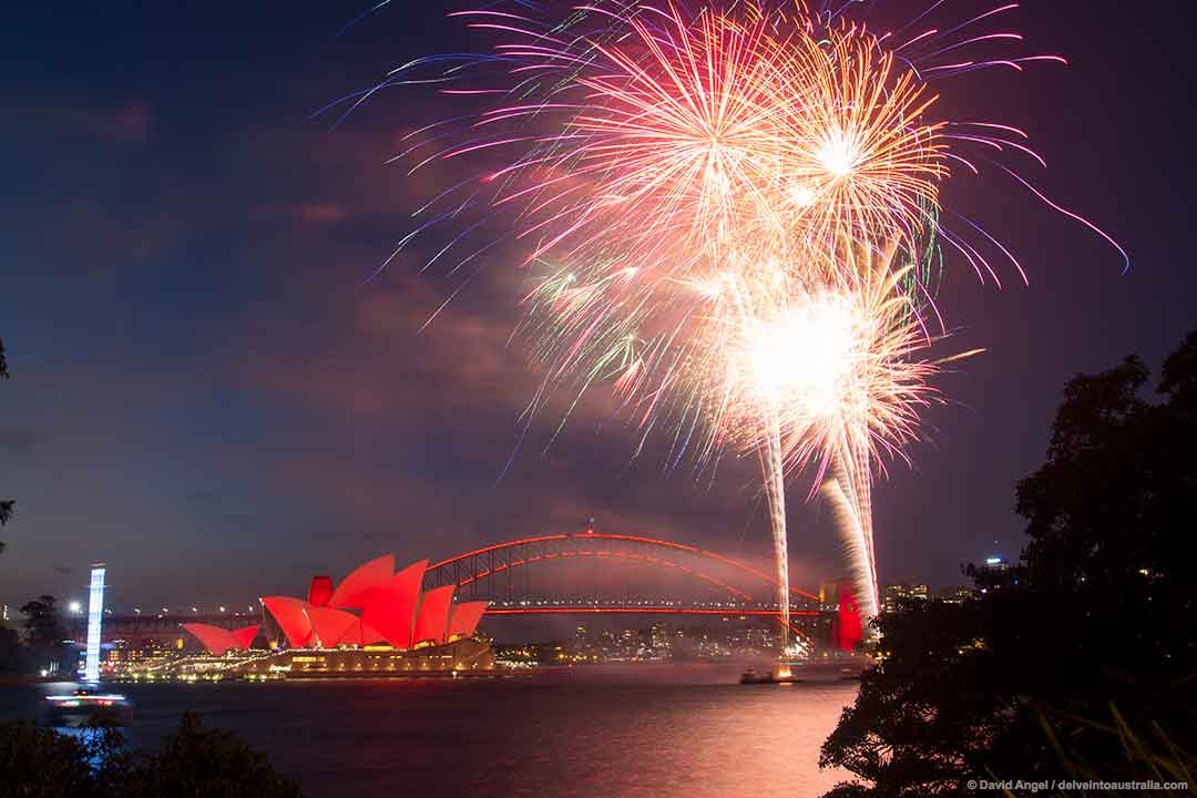 Image of Fireworks over Sydney Harbour