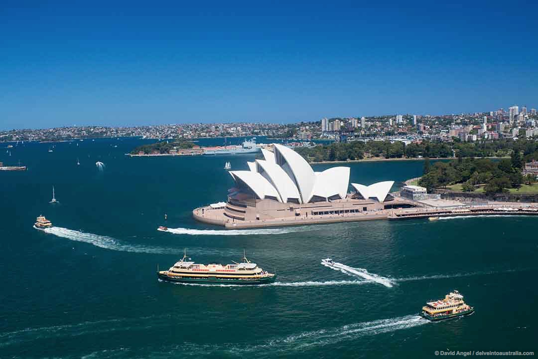Image of Sydney Harbour and Opera House from the Pylon Lookout