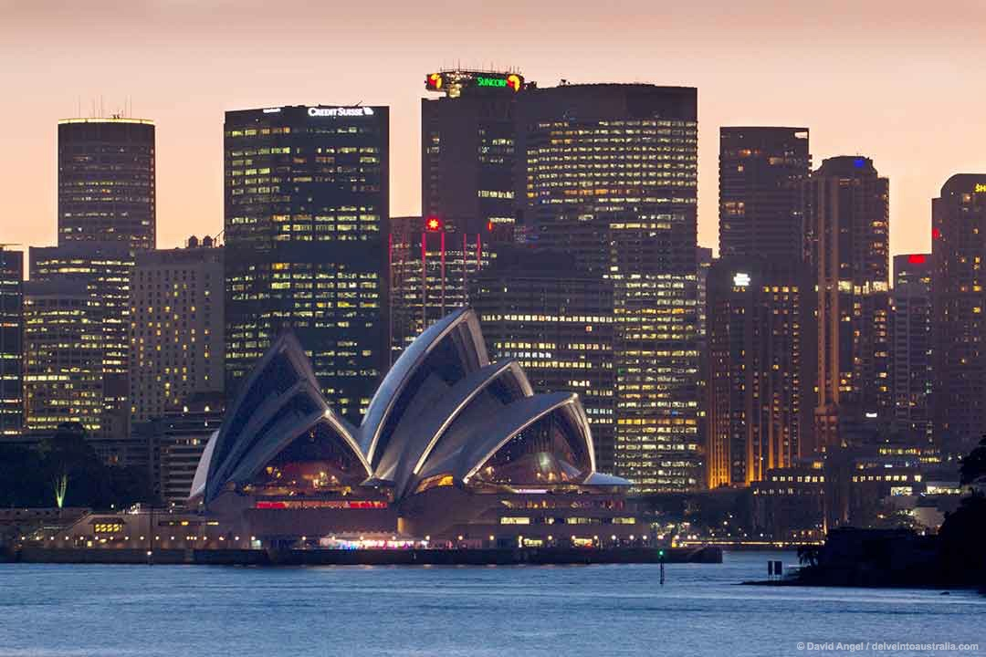 Image of Sydney Opera House and the CBD from Cremorne