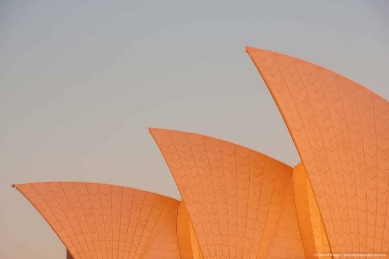 Sydney Opera House Photos Roof sails at sunset