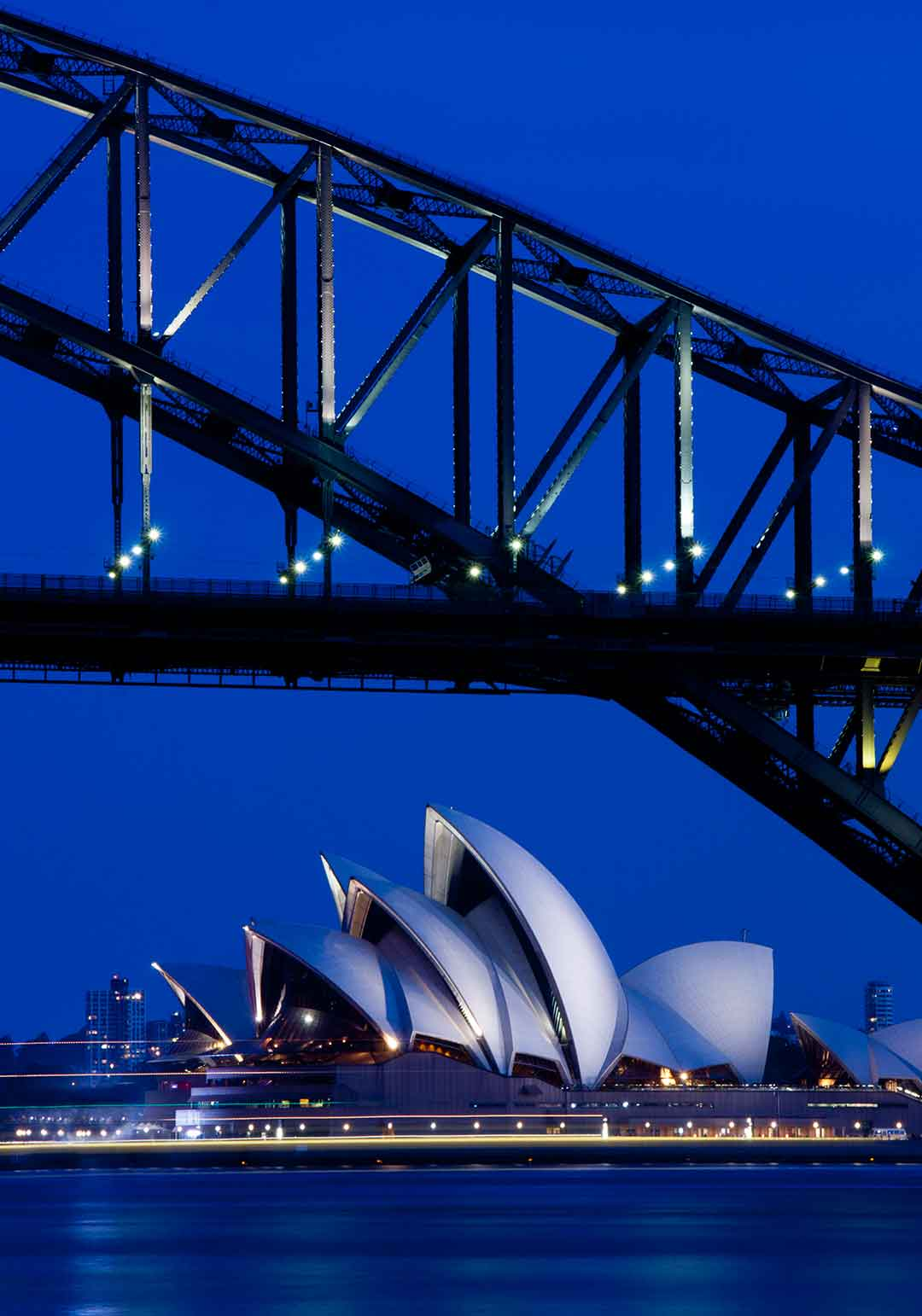 Image of Sydney Opera House at night from Blues Point Reserve